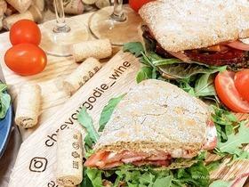 Сэндвич с глазированной грудинкой