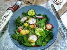 Салат с редисом и картофелем