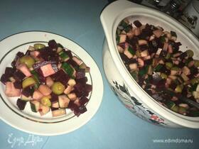 Салат из свеклы и огурца