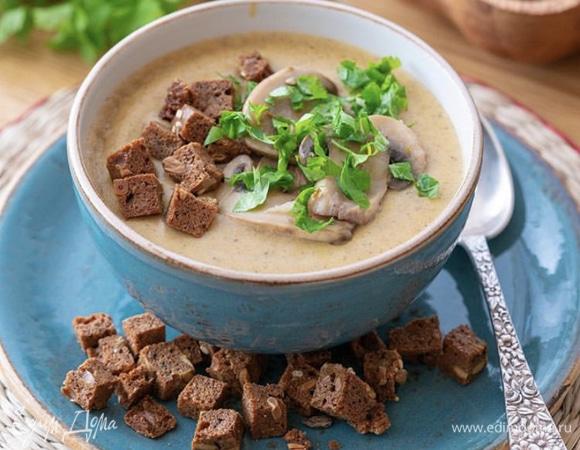 Грибной суп-пюре с кокосовыми сливками