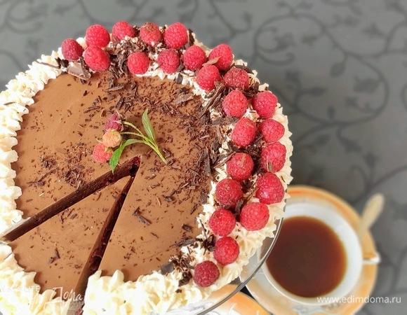 Молочно-шоколадный торт «Эрл Грей» с малиной
