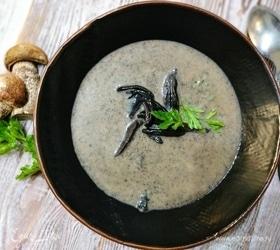 Суп-пюре с лесными грибами