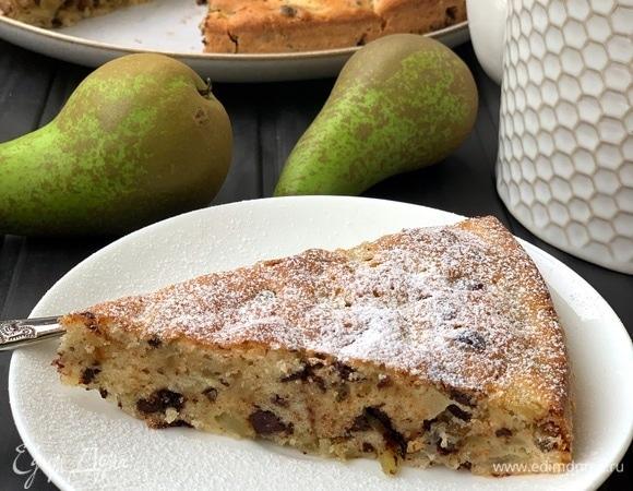 Грушевый пирог с шоколадом