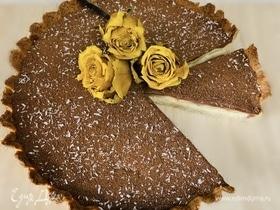 Кокосово-шоколадный тарт с грушей