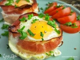 Яичные гнезда на завтрак