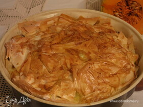 Тыквенный пирог с курицей