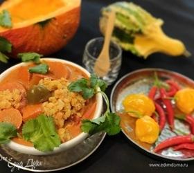 Овощное карри с чечевицей
