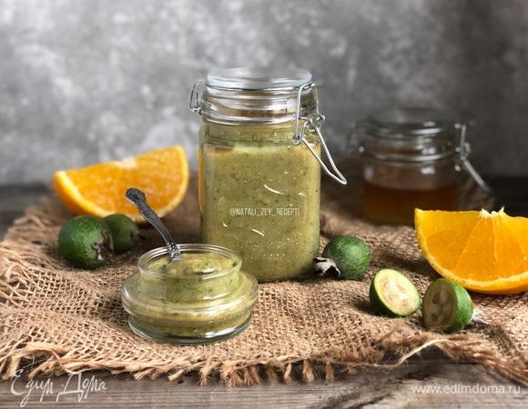«Живое» варенье из фейхоа с апельсином и медом