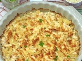 Запеканка с картофелем и куриной грудкой