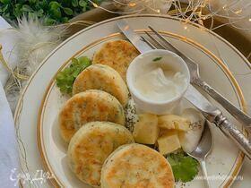 Сырники с зеленью и сыром