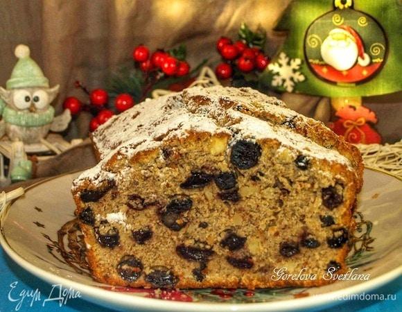 Черный рождественский кекс