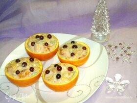 Фруктовый салат в апельсиновых «корзинках»