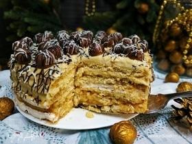Торт «Новогоднее кружево»