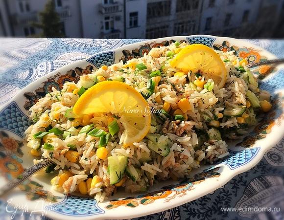 Легкий салат с тунцом без майонеза
