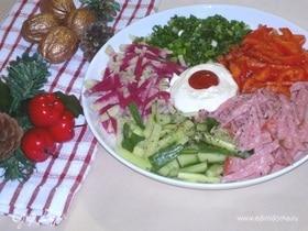 Салат «Новогодний калейдоскоп»