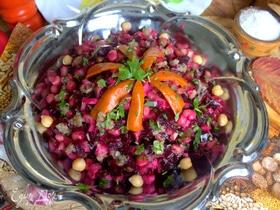 Свекольный салат с нутом