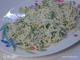 Салат из сельдерея с зеленью и горчично-сметанной заправкой