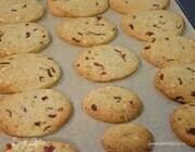 Печенье с клюквой, фисташками и кедровыми орехами
