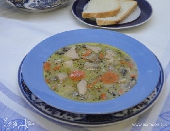 Суп-рагу из свинины с эстрагоном