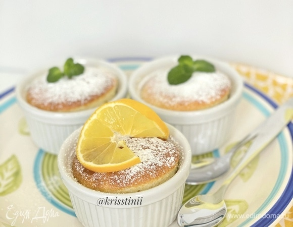 Запеченный лимонный пудинг
