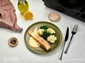Паровой лосось с соусом