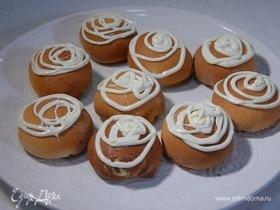 Пончики с вареньем из грецких орехов