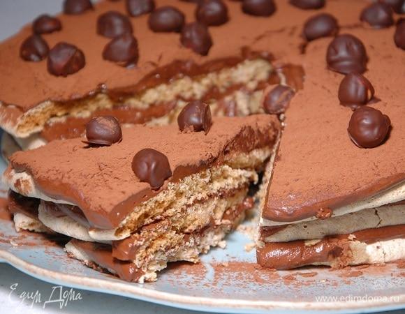 Торт на фундуке с шоколадно-сливочным кремом