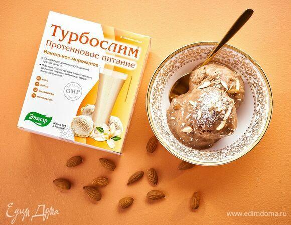 Протеиновое бананово-ванильное мороженое