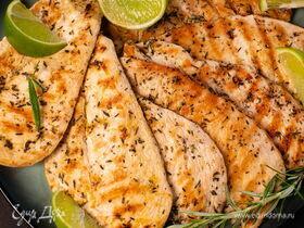 Рецепт куриной грудки на сковороде-гриль