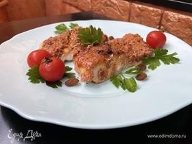Рыба в томатно-миндальной панировке