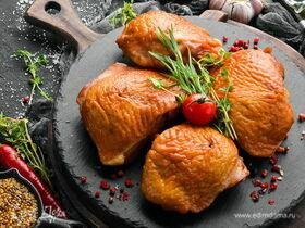 Куриные бедра горячего копчения