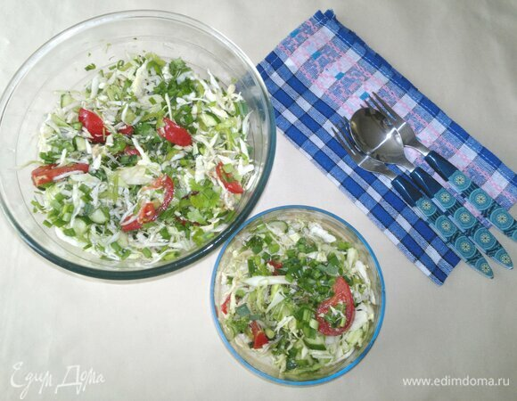Салат из овощей с имбирем