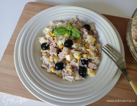 Салат с рисом без майонеза