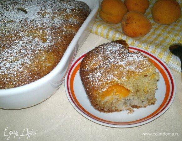 Шарлотка с абрикосами и сливами