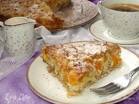 Насыпной фруктовый пирог