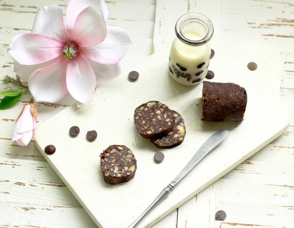 Низкоуглеводный шоколадный «сервелат»