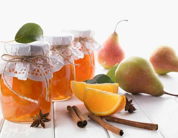 Янтарное варенье из груш с апельсином