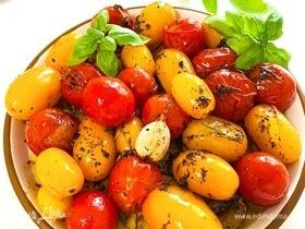 Гарнир из печеных томатов черри