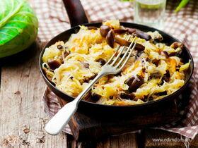 Рецепт капусты с грибами