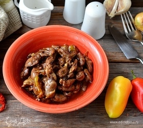 Стир-фрай из куриных сердечек