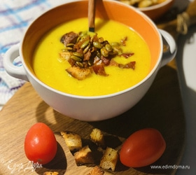 Суп-пюре из цветной капусты с беконом