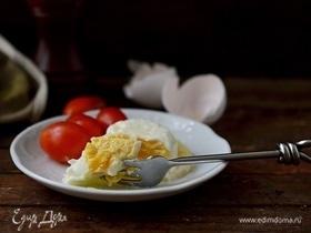 Яичница с сыром в стакане