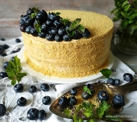 Медовый торт с карамельными нотками