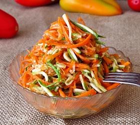 Острая закуска из кабачков и моркови