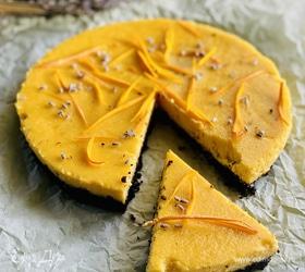 Чизкейк с апельсином и тыквой