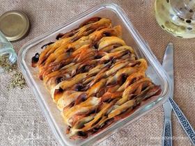 Картофель, запеченный с грибами и специями